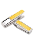 Yellow American Alligator Money Clip  | M-Clip New Money Clip | Sams Tailoring