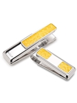 Yellow American Alligator 2 Pocket Money Clip  | M-Clip New Money Clip | Sams Tailoring