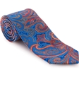 Robert Talbott Blue with Red Paisley Design Ambassador Print Estate Tie 43043I0-01 - Spring 2016 Collection Estate Ties | Sam's Tailoring Fine Men's Clothing
