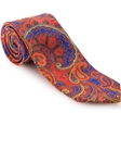 Robert Talbott Blue with Floral and Paisley Design Ambassador Print Estate Tie 43043I0-04 - Spring 2016 Collection Estate Ties | Sam's Tailoring Fine Men's Clothing
