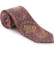 Robert Talbott Blue with Rust and Yellow Paisley Design Seven Fold Tie 50025M0-02 - Spring 2016 Collection Seven Fold Ties | Sam's Tailoring Fine Men's Clothing
