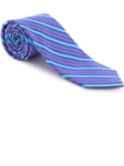 Robert Talbott Navy with Purple and Teal Stripe Welch Margetson Best of Class Tie 58961E0-05 - Spring 2016 Collection Best Of Class Ties | Sam's Tailoring Fine Men's Clothing