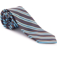 Robert Talbott Brown with Blue and Sky Stripe Welch Margetson Best of Class Tie 58961E0-03 - Spring 2016 Collection Best Of Class Ties | Sam's Tailoring Fine Men's Clothing
