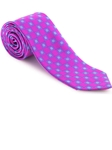 Robert Talbott Fuchsia with Small Box Geometric Design Welch Margetson Best of Class Tie 58963E0-01 - Spring 2016 Collection Best Of Class Ties | Sam's Tailoring Fine Men's Clothing
