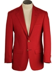 Traveler Artillery Red Hopsack Classic Fit  Wool Blend Blazer | HardWick New Blazer Collection 2018 | Sams Tailoring