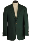 Classic Fit Hunter Green Hopsack Wool Blend Blazer | HardWick New Blazer Collection 2016 | Sams Tailoring