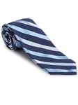 Robert Talbott Navy with Stripe Design Silk Corporate Best of Class Extra Long Tie 57945E1-05 - Spring 2016 Collection Best Of Class Extra Long Ties | Sam's Tailoring Fine Men's Clothing
