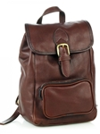 Brown Small Drawstring Backpack With Front Zip Pocket | Aston Leather  Men's New Bags 2016 | Sams Tailoring