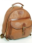 Tan Half Moon Zippered Backpack | Aston Leather  Men's New Bags 2016 | Sams Tailoring