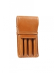 Tan Four Pen Leathe Case | Aston Leather Men's Collection | Sams Tailoring
