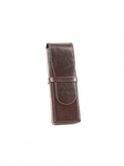 Brown Pen Box For 2 Pens Case | Aston Leather Men's Collection | Sams Tailoring