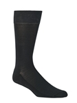 Mercerized Cotton Dress Fine Black Socks | Mephisto Men's Socks | Sams Tailoring