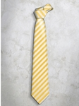 Yellow & White Classic Stripes Refined Silk Tie | Italo Ferretti Super Class Collection | Sam's Tailoring