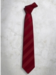 Dark Red Stripes Refined Silk Tie | Italo Ferretti Super Class Collection | Sam's Tailoring