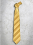 Yellow Classic Stripes Refined Silk Tie | Italo Ferretti Super Class Collection | Sam's Tailoring