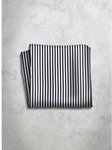 Grey & Black Stripes Design Silk Satin Men's Handkerchief | Italo Ferretti Super Class Collection | Sam's Tailoring