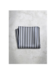 Blue & White Stripes Design Silk Satin Men's Handkerchief | Italo Ferretti Super Class Collection | Sam's Tailoring