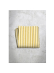 Yellow & White Stripes Design Silk Satin Men's Handkerchief | Italo Ferretti Super Class Collection | Sam's Tailoring