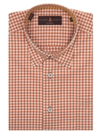 Robert Talbott Orange and White Check Design Classic Fit Anderson II Sport Shirt LUM36003-01 - Spring 2016 Collection Sport Shirts | Sam's Tailoring Fine Men's Clothing