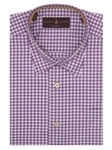 Robert Talbott Purple and White Check Design Anderson II Classic Fit Sport Shirt LUM36005-01 - Spring 2016 Collection Sport Shirts | Sam's Tailoring Fine Men's Clothing