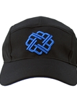 Black With Blue Five Panel Hat | Betenly Golf Hats Collection | Sam's Tailoring