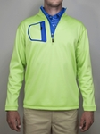 "Lime ""Victory"" Quater Zip Pullover 