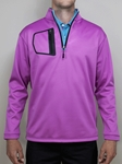 "Fuschia ""Victory"" Quater Zip Pullover 