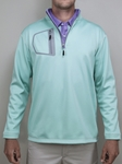 "Mint ""Victory"" Quater Zip Pullover 