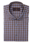 Robert Talbott Blue and Brown Plaid Check Design Crespi III Sport Shirt TSM35073-01 - Spring 2016 Collection Sport Shirts | Sam's Tailoring Fine Men's Clothing