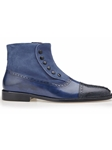 Navy Genuine Ostrich Filipo Boot | Belvedere Fall 2016 Collection | Sams Tailoring
