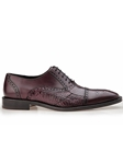 Antique Wine Genuine Alligator Torino Shoe | Belvedere Fall 2016 Collection | Sams Tailoring