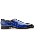Antique Royal Blue Genuine Eel Stella Shoe | Belvedere Fall 2016 Collection | Sams Tailoring