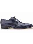Navy Genuine Lizard karmelo Shoe | Belvedere Fall 2016 Collection | Sams Tailoring