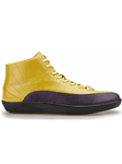 Purple/Golden Yellow Genuine Lizard Oratio Shoe | Belvedere Fall 2016 Collection | Sams Tailoring