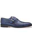 Antquie Navy Genuine Lizard Otto Shoe | Belvedere Fall 2016 Collection | Sams Tailoring