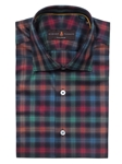 Robert Talbott Black with Multi-Colored Plaid Check Design Crespi III Sport Shirt TSM35120-01 - Spring 2016 Collection Sport Shirts | Sam's Tailoring Fine Men's Clothing