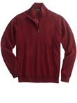 Bobby Jones Burgundy Merino Quarter-Zip Wind Sweater BJL47003 - Fall 2016 Collection Sweaters | Sam's Tailoring Fine Men's Clothing