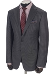 Hickey Freeman Grey Houndstooth Tasmanian Suit 65312509B003 - Suits | Sams Tailoring