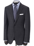 Hickey Freeman Grey Windowpane Tasmanian Suit 65312510B003 - Suits | Sams Tailoring