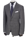 Hickey Freeman Medium Grey Classic Glen Plaid Super Merino Suit 65302204B003 - Suits | Sams Tailoring