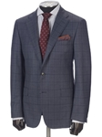 Hickey Freeman Blue-Grey Windowpane Super 160s Suit 65312506B003 - Suits | Sams Tailoring