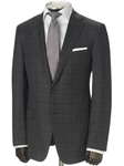 Hickey Freeman Charcoal Plaid Super 160s Suit 55302103B - Suits | Sams Tailoring