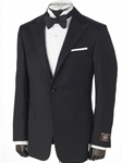 Black Peak Label Traveler Tuxedo | Hickey FreeMan Super Marino Suits | Sams Tailoring