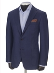 Bright Blue Double Faced Soft Jacket | Hickey FreeMan Traveler Suits | Sams Tailoring