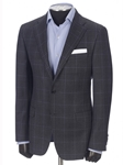 Grey Houndstooth Overcheck Traveler Jacket | Hickey FreeMan Traveler Suits | Sams Tailoring