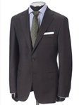 Brown Plaid Micronsphere Traveler Suit | Hickey FreeMan Traveler Suits | Sams Tailoring