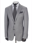 Dove Grey Flannel Flap Pockets Suit | Hickey FreeMan Suits  | Sams Tailoring