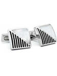 Silver Mother Of Pearl Cuff Links | Hickey FreeMan Cufflinks | Sams Tailoring