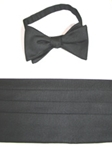 Robert Talbott Cumbbow Pretied Black Faille 010016F-01 - Bow Ties & Sets | Sam's Tailoring Fine Men's Clothing