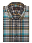 White, Blue, Teal, Brown and Orange Check Crespi VI Sport Shirt | Robert Talbott Fall 2016 Collection  | Sam's Tailoring